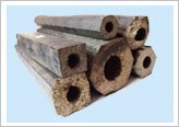 Wood Briquettes made from Briquetting Press