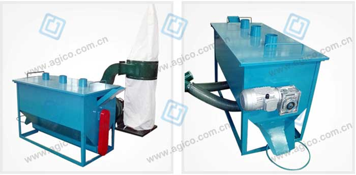 cooling roller separator for wood pellet line