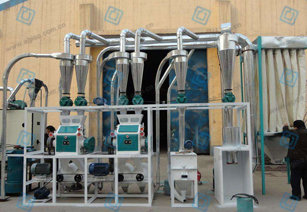 Flour mill machine in flour milling process