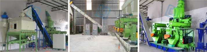 Important parts of complete biomass pellet plant