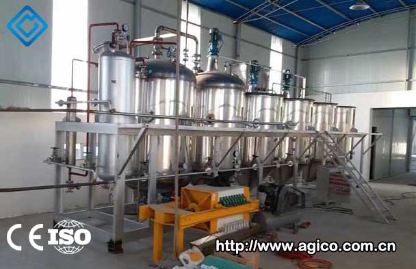 Peanut oil processing machine installed in customer's factory.