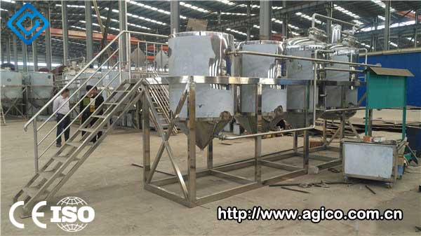 Peanut oil processing machine testing is completed