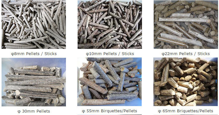 raw materials for mechanical stamping briquette press
