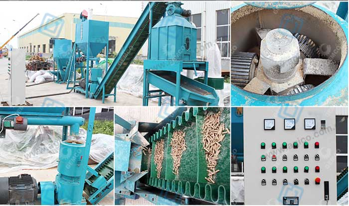 Detail display of the small biomass pellet manufacturing plant parts