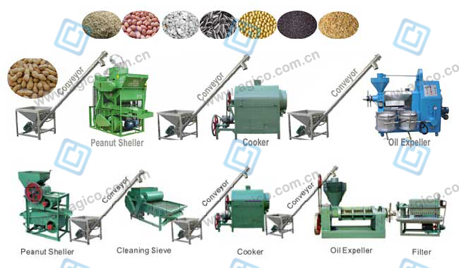small oil pressing line