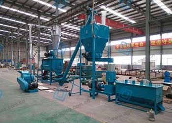 small pelleting line
