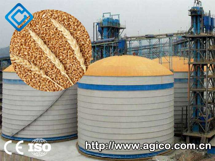 steel grain storage silo for wheat storage
