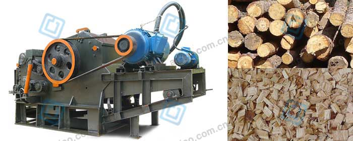wood chipper for wood pellet line